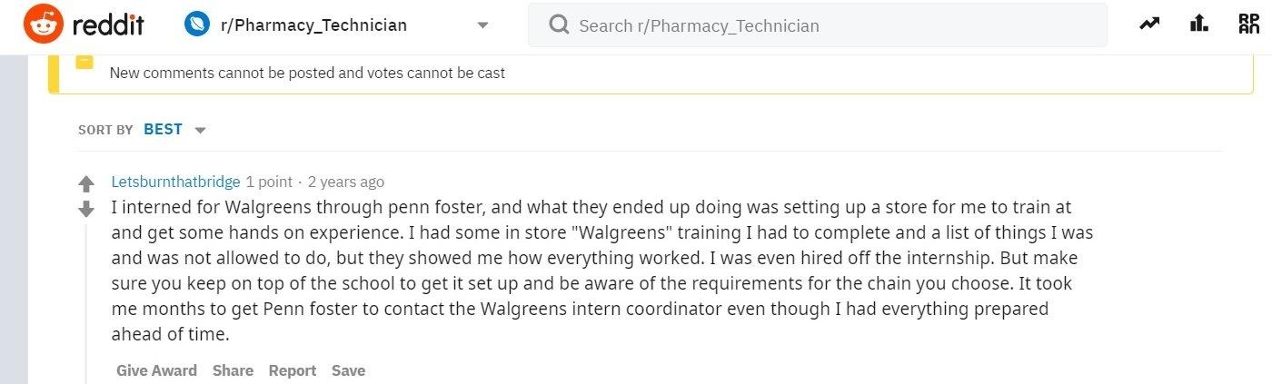 Penn Foster Pharmacy Tech Externship