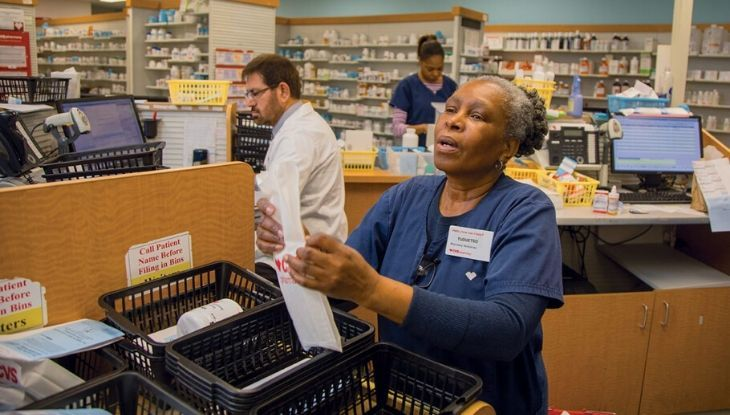 A female pharmacy technician at CVS
