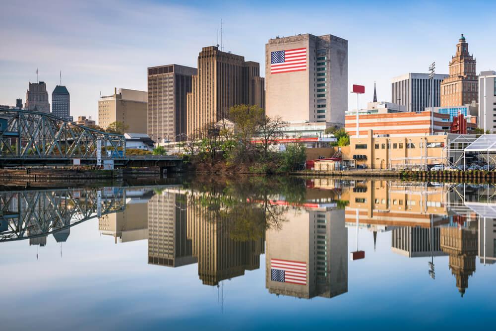 Skyline of downtown Newark, NJ